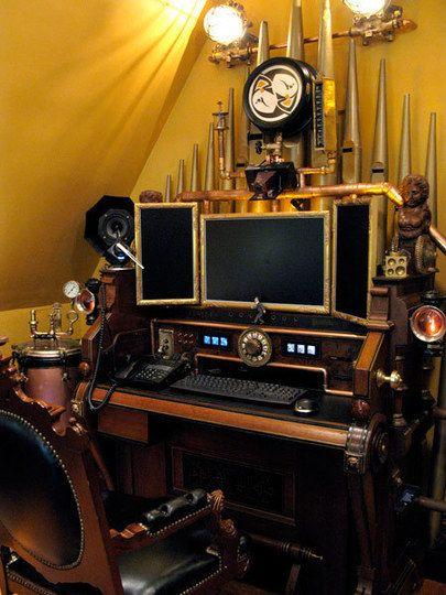 """""""Steampunk computer workstation"""""""