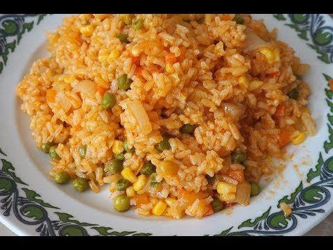 Рис с овощами/постные, вегетарианские блюда/Rice with vegetables - YouTube