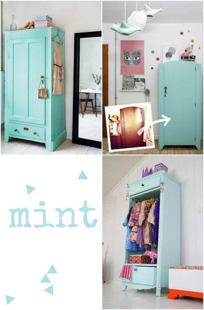 Las 25 mejores ideas sobre armario pintado en pinterest - Muebles pintados en blanco ...