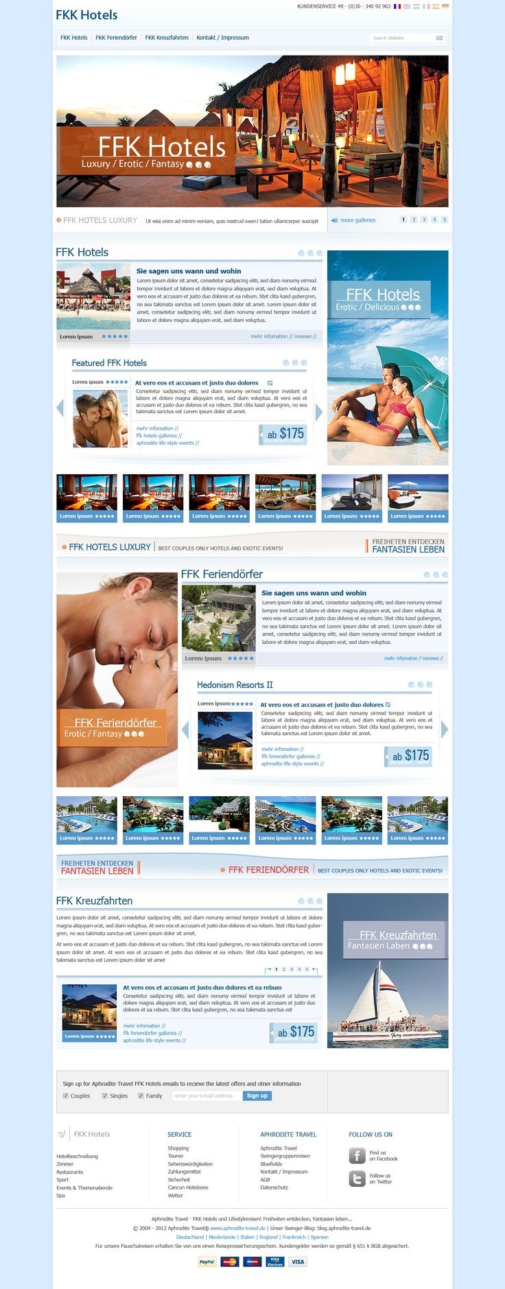 Hotels / Travel Agency Website  Design