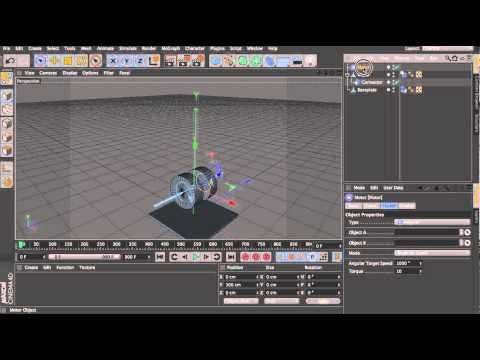 Cinema 4d Tutorial - Dynamic Piston and Shaft (No Keyframes). - YouTube