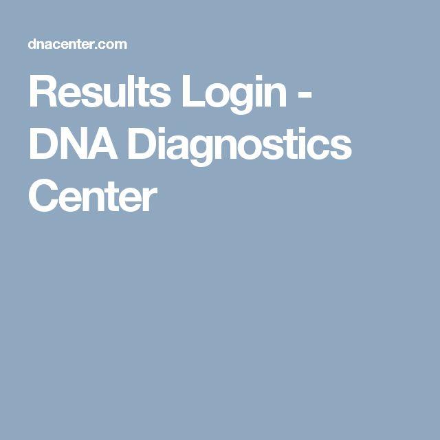 Results Login - DNA Diagnostics Center