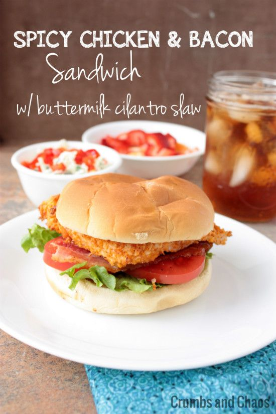 Spicy Chicken Sandwiches on Pinterest | Bacon sandwich recipes, Bacon ...