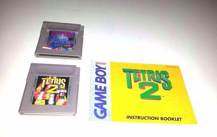 Original Gameboy  Game Lot  ~ TETRIS & TETRIS 2 with manual