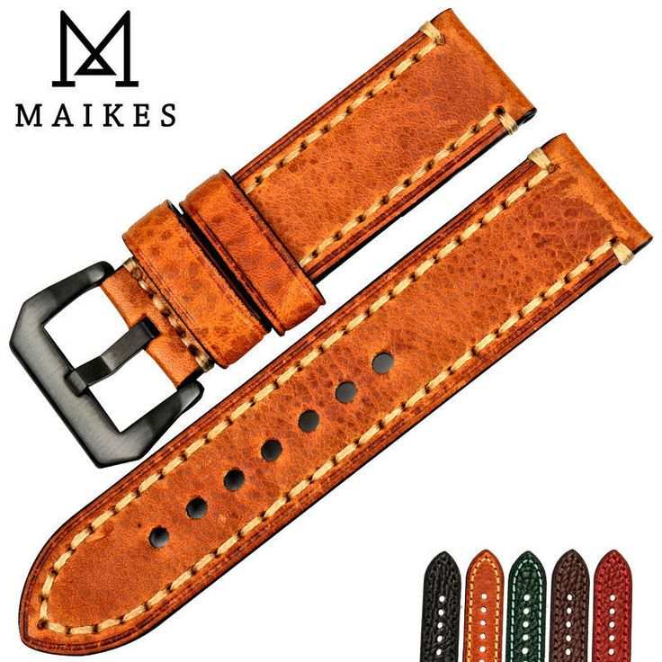 Mens Italian Cow Leather Panerai Watch Strap Band 20mm 22mm 24mm 26mm Wristwatch #MensItalian