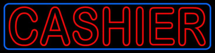 Block Cashier Neon Sign 15 Tall x 60 Wide x 3 Deep, is 100% Handcrafted with Real Glass Tube Neon Sign. !!! Made in USA !!!  Colors on the sign are Red and Blue. Block Cashier Neon Sign is high impact, eye catching, real glass tube neon sign. This characteristic glow can attract customers like nothing else, virtually burning your identity into the minds of potential and future customers. Block Cashier Neon Sign can be left on 24 hours a day, seven days a week, 365 days a year...for decades…