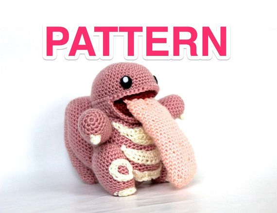 Lickitung pokémon crochet pattern by Pokemonchallenge on Etsy