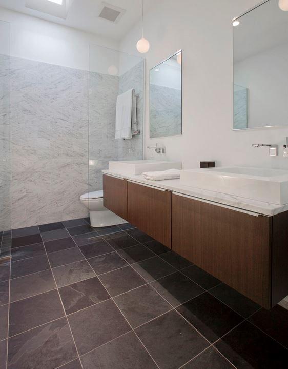 Slate Bathroom Sink : ... bathroom marble wall brown bathroom wood bathroom slate tiles bathroom