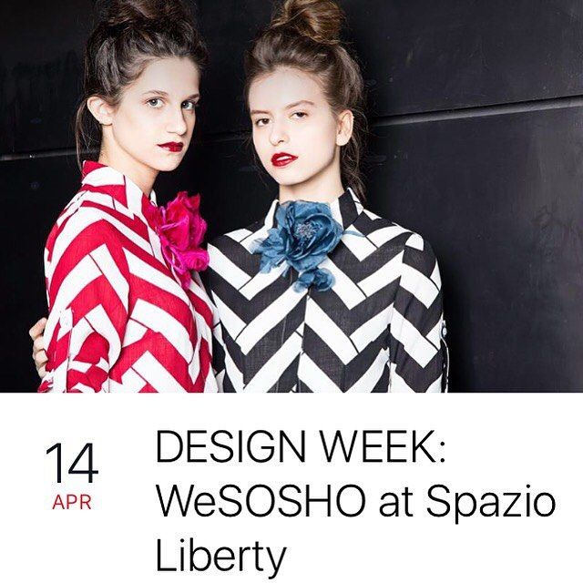 @spazioliberty & @wesosho #cocktailparty on April 14th from 5pm to 9pm via Marcona 3, Milan #designweek #cocktailparty #milan #event #party