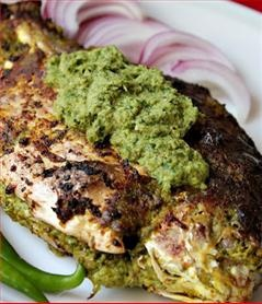 Bharwaan machchhi or stuffed fish is a Bengali recipe. It is also very famous in South-Indian. Fish and rice are staple food of East-India. Fish has a wealth of proteins which are the building blocks and most required and essential nutrients of human body; they also contains omega-3, calcium and vitamins and is beneficial for eyes, bones, hair, skin and immune system.