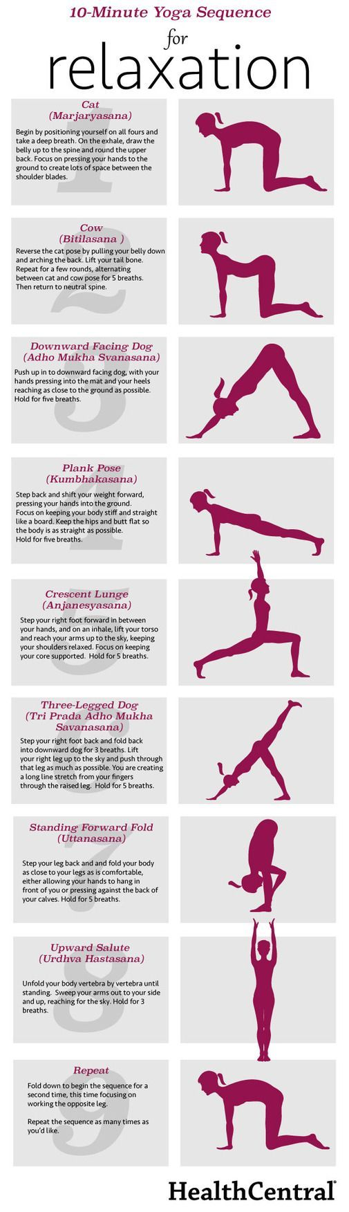 A short but sweet yoga sequence for relaxation, great to do before bed to help you sleep better.