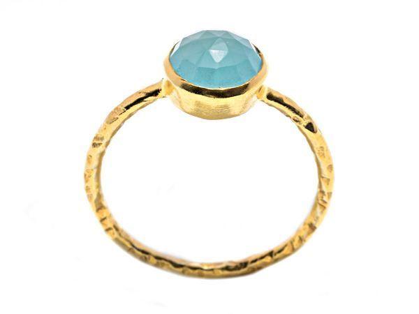 Aqua Gold Dream Ring - HeidisHoff.no