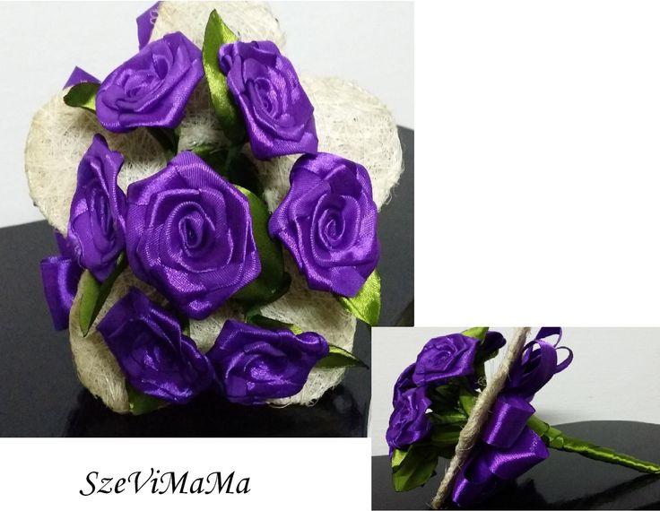 lila rózsák.. ilyet többet nem készítek..