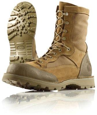 Wellco USMC RAT Boots, Khaki, Made in USA - Slightly Blemished