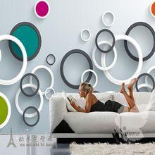 moderno d gran crculo papel pintado para paredes d dormitorio papel pintado teln