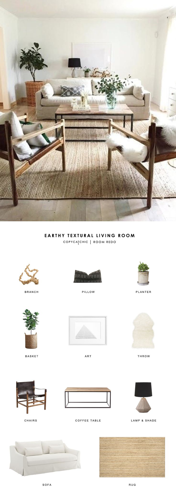 Copy Cat Chic Room Redo Neutral Living RoomsEarthy