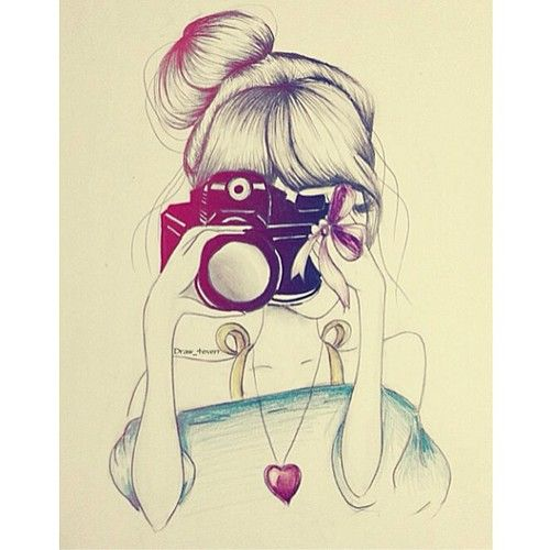 beautiful, bun, drawing, girl - inspiring picture on Favim.com