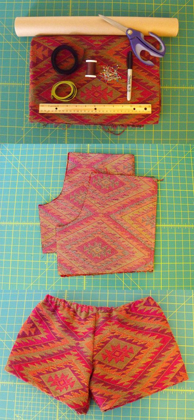 Easy DIY Clothes- DIY Printed Short Shorts Tutorial | DIY Projects for Teens-Cool Do It Yourself Ideas for Tweens, Kids, Women and Men! diyready.com/...