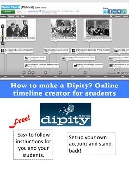 Free!!! Free!! Free!!  Students will need to set up an account then they will be able to create magic.    Inclosed are easy to follow student instructions for how to work a very intuitive timeline creator, Dipity.  Students can upload images, video, map it, and have their own summaries of what occurred.