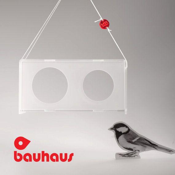 Bird feeder Hanging bird feeder Window bird feeder by Uczarczyk