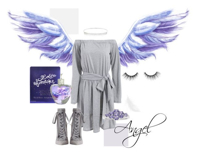 Angel by mikaelajane17 on Polyvore featuring Zimmermann, Suzanne Kalan, tarte and Lolita Lempicka, fashion, angel, wings, boots, ring, dress