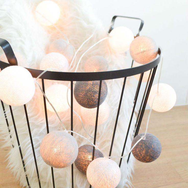 ED Lichterkette Cotton Balls Perfekt Als Raum Oder Wanddekoration