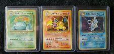 Charizard blastoise venusaur holographic japanese pokemon cards base set  get it http://ift.tt/2chcBdc pokemon pokemon go ash pikachu squirtle