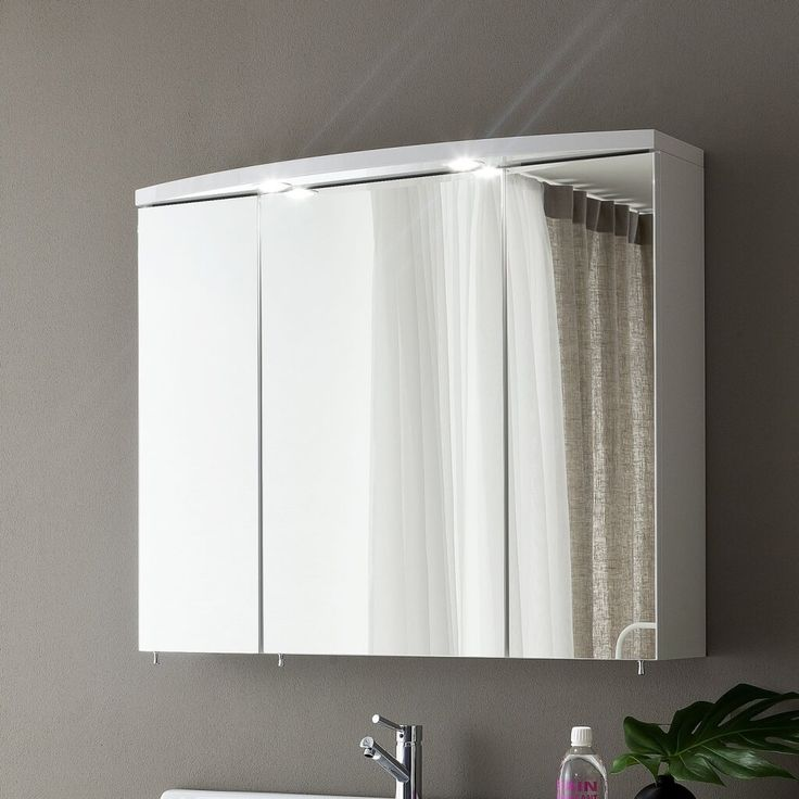 Image Of Captivating Bathroom Medicine Cabinets Ikea With Mirrored Panel Cabinet Doors And Recessed Lighting Fixtures Above Modern Polished Chrome