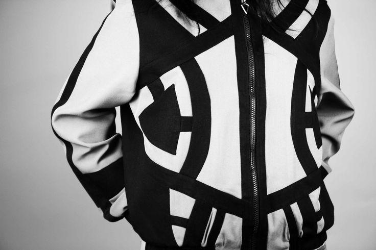 Fashion details    Bomber jacket    Casual    Grunge    Streetstyle    Motto    Ghetto    Geometry Jacket