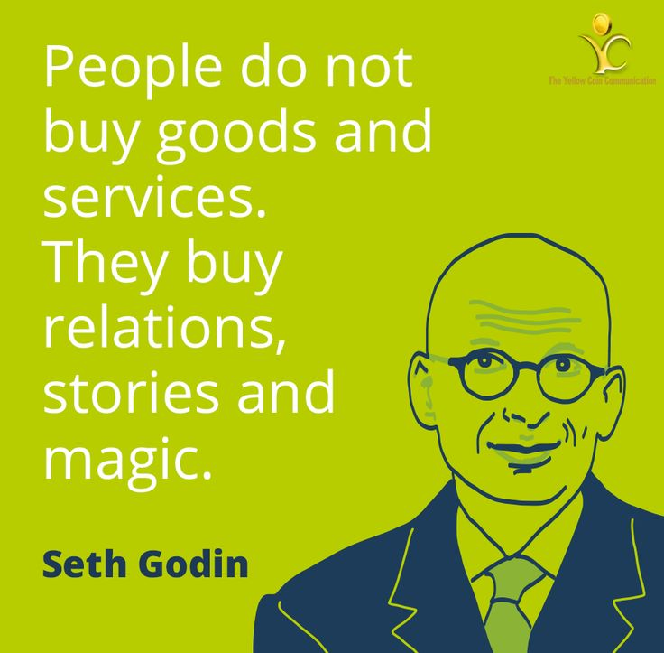 It's a reality that people don't buy goods and services. They buy relations, stories and some magic. #MotivationalMonday #PR #TYCC