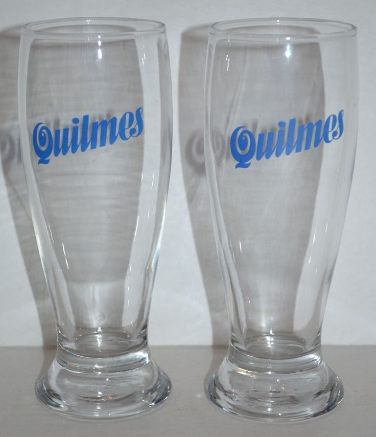 Quilmes Beer Glasses 300mL Argentine Brewery  Set of 2 #Quilmes