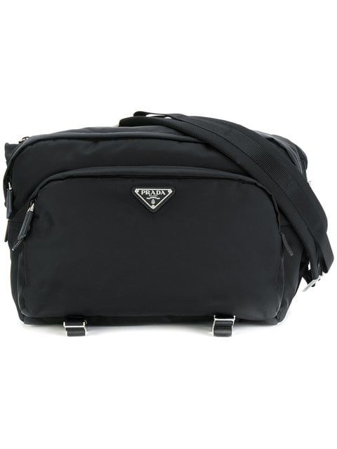 357a6bf927884f PRADA PRADA NYLON LARGE CROSS BODY BAG - BLACK. #prada #bags #nylon ...