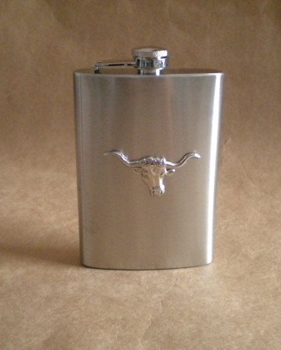 Silver Texas Longhorn Cowboy Country and Western by kryan2designs, $22.00
