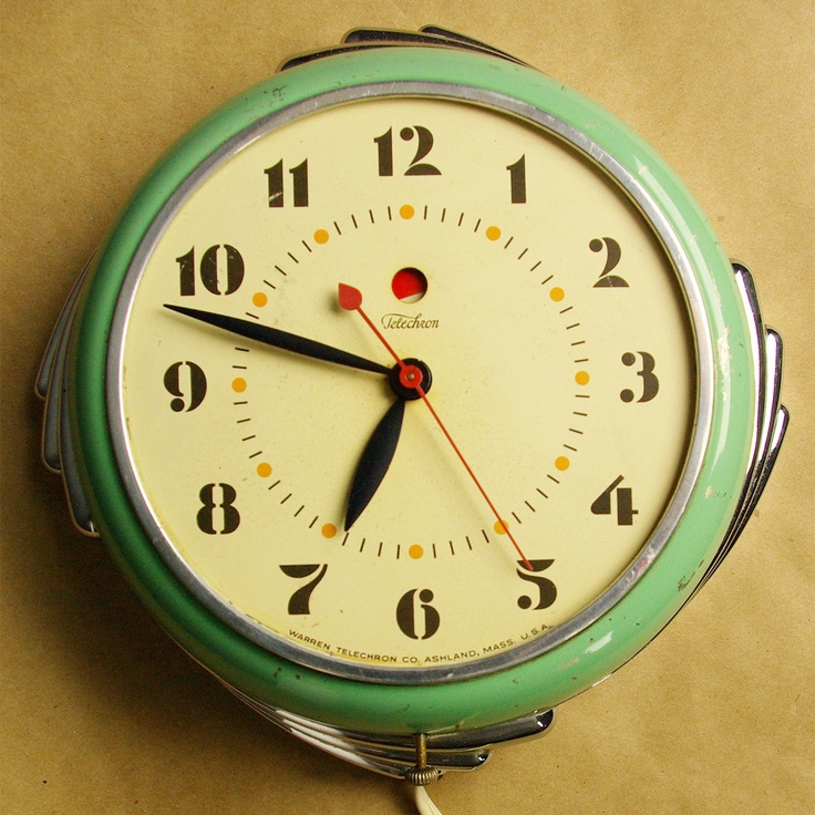 Retro Electric Kitchen Wall Clocks: 49 Best Vintage Kitchen Clocks - Have Images On Pinterest
