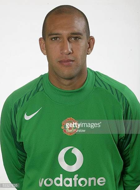 Tim Howard of Manchester United poses during the annual ...