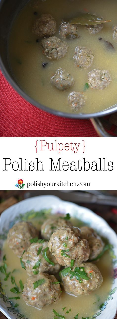 Polish food; Polish meatballs {pulpety} www.polishyourkit…