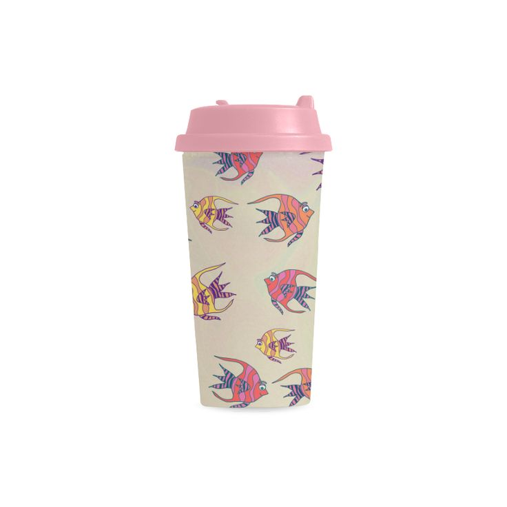 Angel Fish Double Wall Plastic Mug
