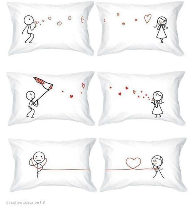 Ideas Pillow Cases: 14 best Pillowcase ideas images on Pinterest   Couple pillowcase    ,