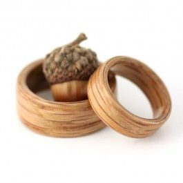 The oak symbolizes strength, protection, and durability — representing inner fire, courage and nobility of spirit, — The acorn, a seed from which life may spring forth,   The combination of the oak and the acorn symbolize the birthing of a  union based on strength, stability, and longevity.  AWWW. How cool. Maybe not 300.00 cool but still.