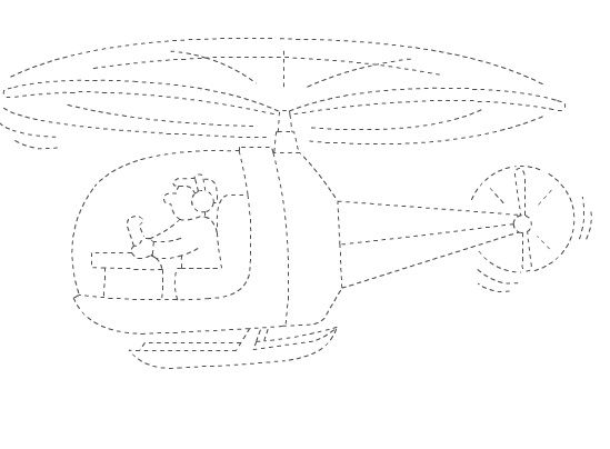 helicopter trace worksheet  |   Crafts and Worksheets for Preschool,Toddler and Kindergarten