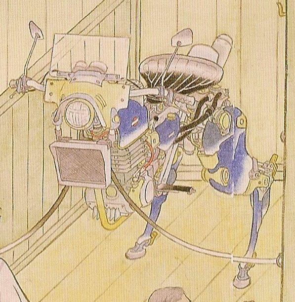 Yamaguchi Akira - Tokei (Tokyo) Sho-Da-Furaku 2001 - pen - watercolor on paper 33x99.