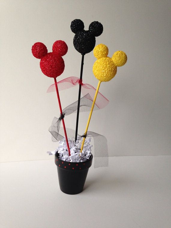 Mickey Mouse birthday party centerpiece, decoration by AlishaKayDesigns