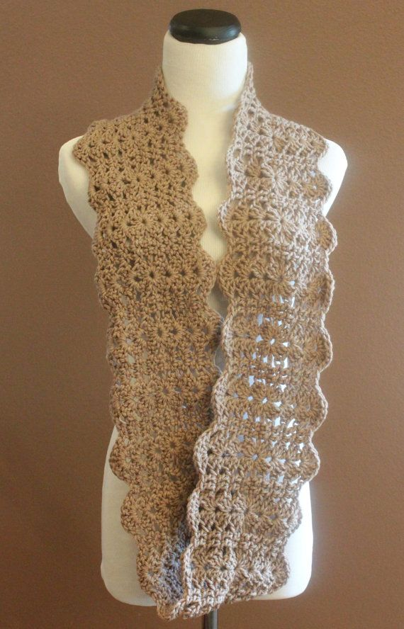 Crocheting Infinity Scarf : Chunky Crochet Infinity Scarf Lace Thick Cowl Neckwarmer Scarf Snood