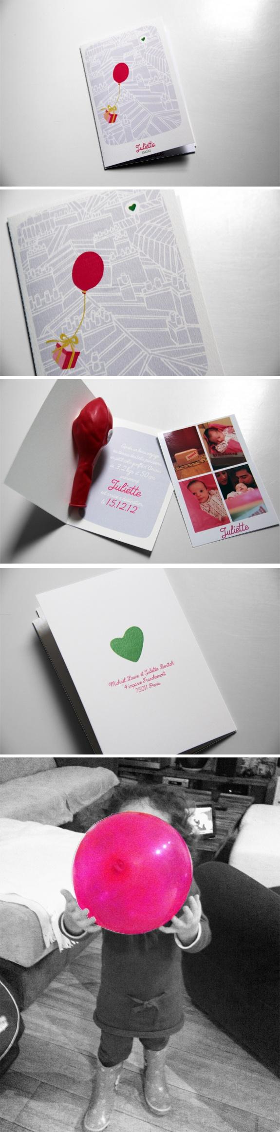 faire part naissance birth announcement / Design Laureandrieux.com