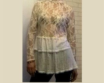 Frauen Olive Kleid Tunika lose Baumwolle Kleid/Tunika Boho