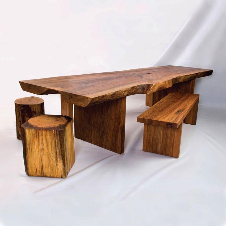 Rustic Wood Furniture for Original Contemporary Room Design | DigsDigs