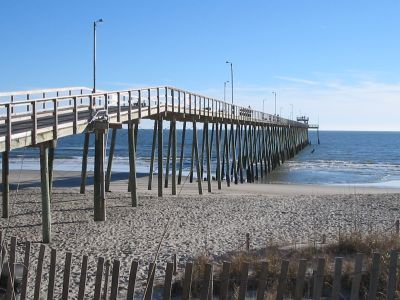 Pictures of Long Beach Pier - Oak Island, North Carolina (NC)