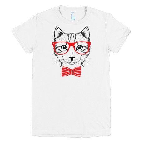 Prezent dla chłopaka - koszulka  z kotem nerd cat boy, koszulki z nadrukiem, koszulki na prezenty, prezent dla chłopaka.