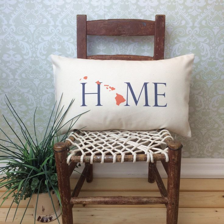 Hawaii Pillow, Long Pillow, Home Pillow, State Pillow, Home Decor, House Warming Gift, House Warming Pillow, Custom Pillow, Lumbar by henhouseoriginals on Etsy https://www.etsy.com/listing/240895092/hawaii-pillow-long-pillow-home-pillow