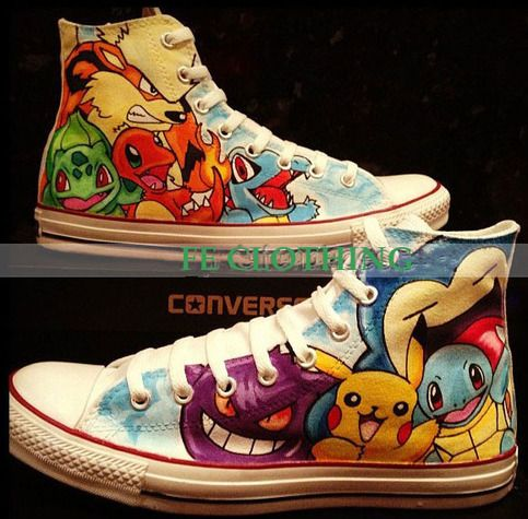 Pokemon hand-painted shoes from FE CLOTHING